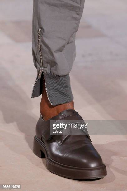 Shoe detail during the Hermes Menswear Spring/Summer 2019 show as part of Paris Fashion Week on June 23 2018 in Paris France
