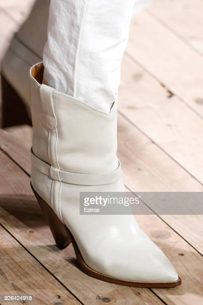 Shoe detail during the Isabel Marant show as part of the Paris Fashion Week Womenswear Fall/Winter 2018/2019 on February 28 2018 in Paris France