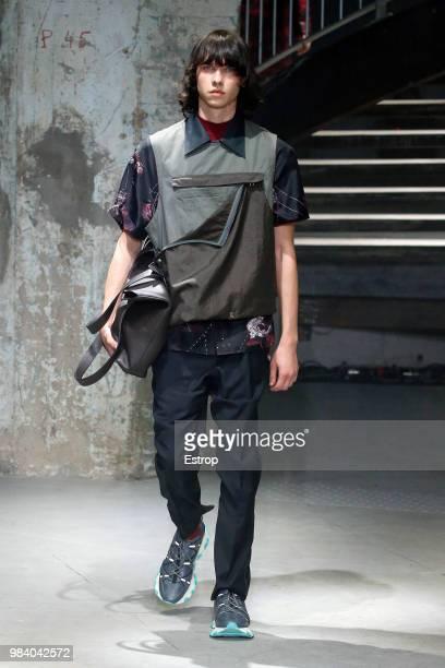 Shoe detail during the Lanvin Menswear Spring/Summer 2019 show as part of Paris Fashion Week on June 24 2018 in Paris France
