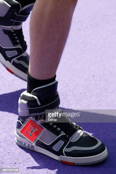 Shoe detail during the Louis Vuitton Menswear Spring/Summer 2019 show as part of Paris Fashion Week on June 21 2018 in Paris France