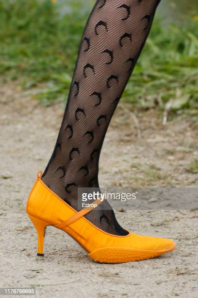 Shoe detail during the Marine Serre Womenswear Spring/Summer 2020 show as part of Paris Fashion Week on September 24 2019 in Paris France