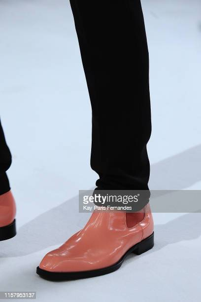 Shoe detail during the Paul Smith Menswear runway Spring Summer 2020 show as part of Paris Fashion Week on June 23, 2019 in Paris, France.