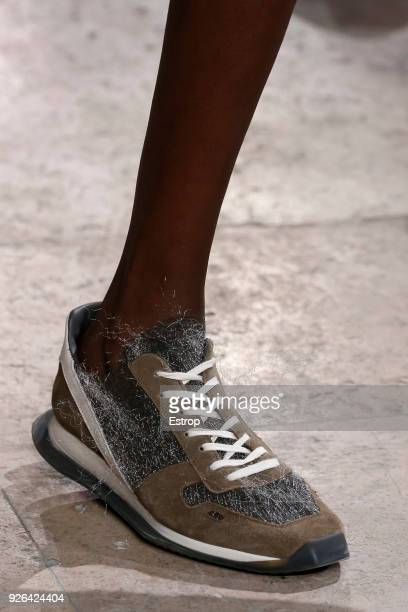 Shoe detail during the Rick Owens show as part of the Paris Fashion Week Womenswear Fall/Winter 2018/2019 on February 28 2018 in Paris France