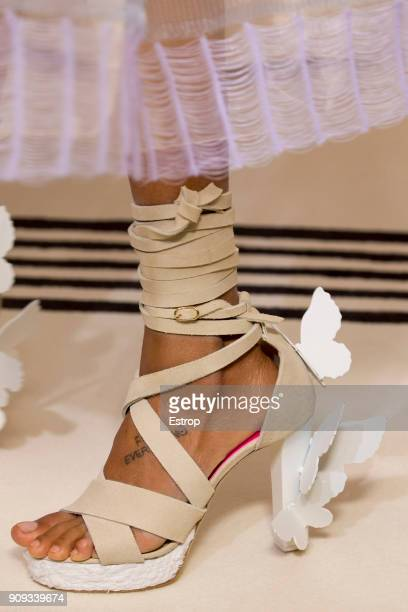 Shoe detail during the Schiaparelli Spring Summer 2018 show as part of Paris Fashion Week on January 22 2018 in Paris France