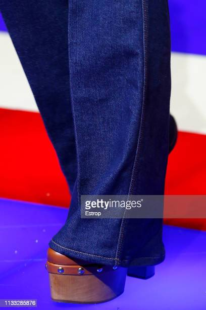 Shoe detail during the Tommy Hilfiger TOMMYNOW Spring 2019 TommyXZendaya Premieres at Theatre des ChampsElysees on March 2 2019 in Paris France