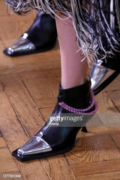 Shoe detail during the Victoria/Tomas fashion show during Milan Women's Fashion Week Spring/Summer 2021 on September 29 2020 in Paris France