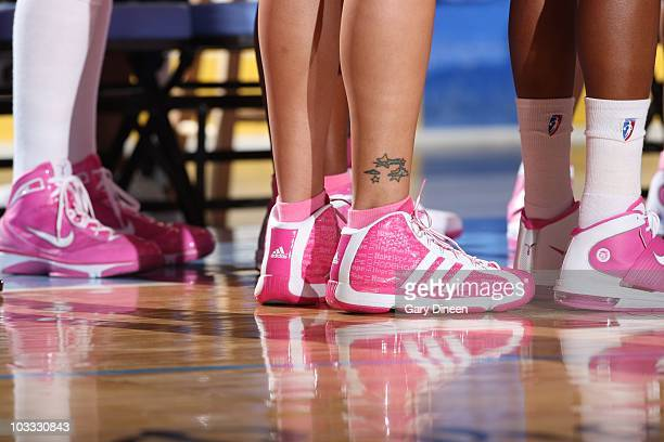 Shoe detail during the WNBA game between the Minnesota Lynx and the Chicago Sky on August 7 2010 at the AllState Arena in Rosemont Illinois Minnesota...