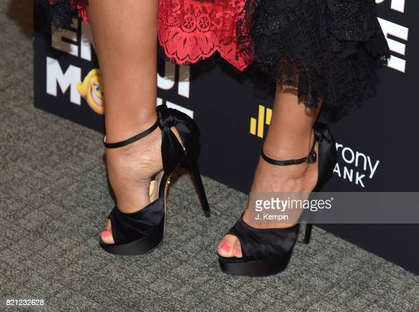 A shoe detail of actress Sofia Vergara is seen at 'The Emoji Movie' New York Screening at New York Institute of Technology on July 23 2017 in New...