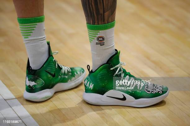 Shoe detail of Phoenix player, Mitchell Creek is seen during the round 15 NBL match between the Illawarra Hawks and the South East Melbourne Phoenix...