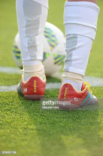 Shoe detail of Yosuke Kashiwagi of Urawa Red Diamnds during the JLeague match between Omiya Ardija and Urawa Red Diamonds at the NACK5 stadium on May...