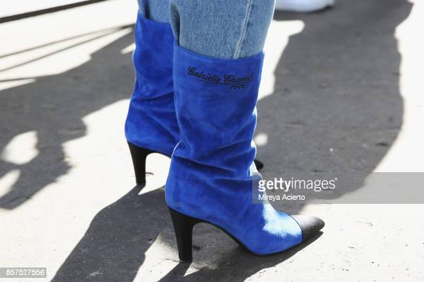 Shoe detail seen during Paris Fashion Week Womenswear Spring/Summer 2018 on October 3 2017 in Paris France