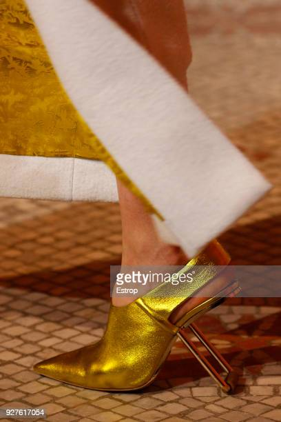 Shoe detail the Poiret show as part of the Paris Fashion Week Womenswear Fall/Winter 2018/2019 on March 3 2018 in Paris France