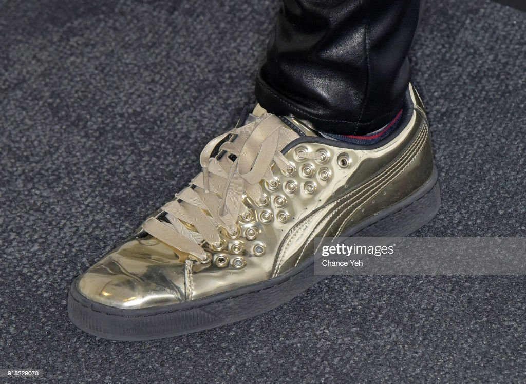 MAX, shoe detail, visits Music Choice on February 14, 2018 in New York City.