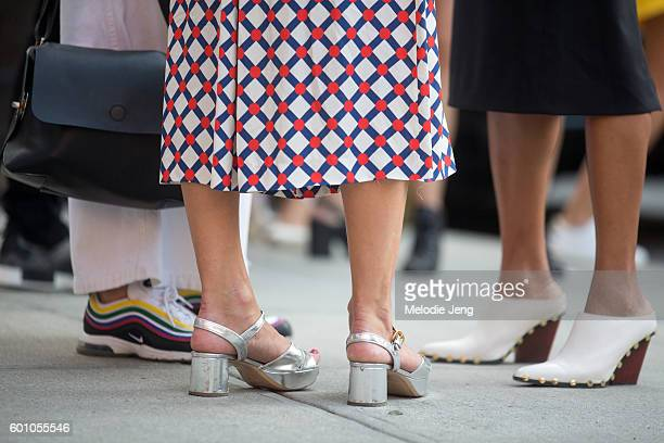 Shoe details at the Creatures of Comfort show at Industria Studios on September 8 2016 in New York City