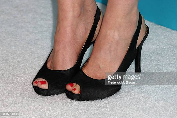 Shoe details of actress Jacqueline Mazarella during the 17th Costume Designers Guild Awards with presenting sponsor Lacoste at The Beverly Hilton...