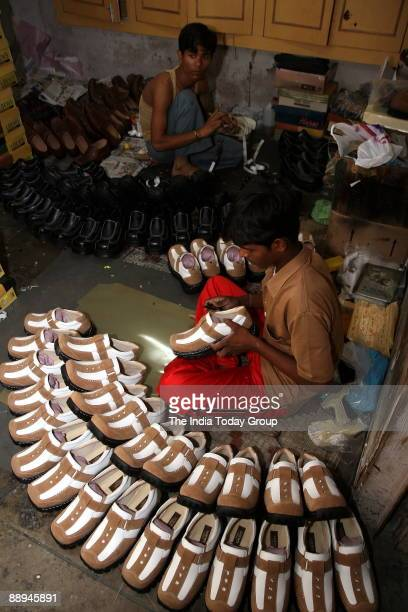 Shoe factory / Footwear unit in Agra, UP, India.