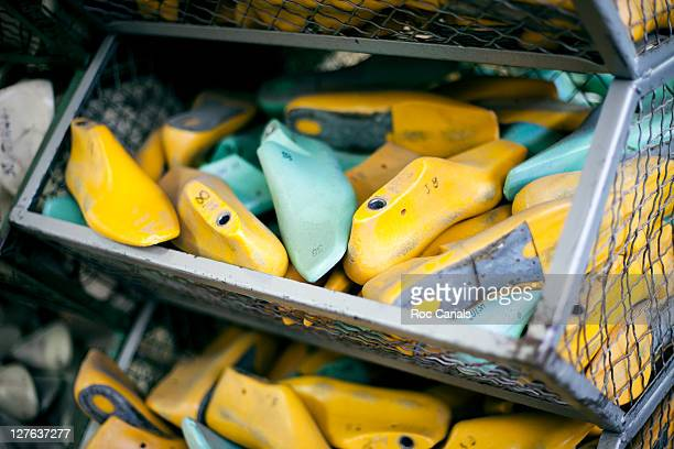 shoe factory - balearics stock pictures, royalty-free photos & images