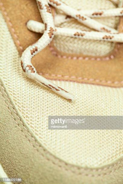 shoe laces - beige shoe stock pictures, royalty-free photos & images