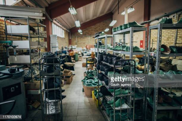 shoe making factory - shoe factory stock pictures, royalty-free photos & images