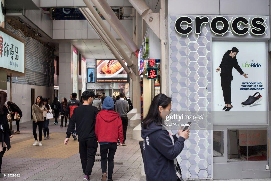 363a65c34ae72 Shoe manufacturer Crocs store in Causeway Bay