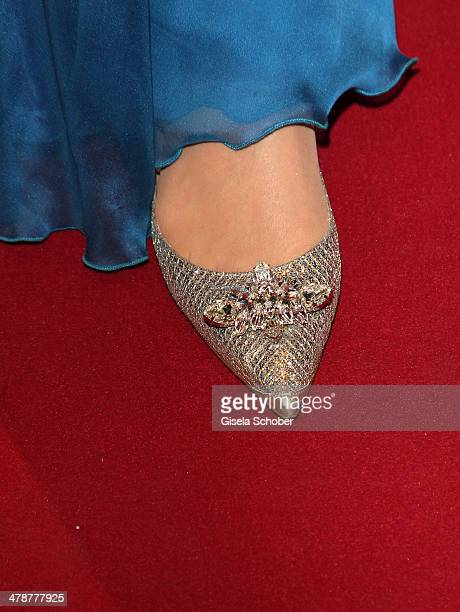 shoe of Daryl Hannah at the 5th Filmball Vienna at City Hall on March 14 2014 in Vienna Austria