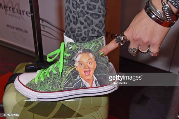 Shoe of Julian F M Stoeckel as a detail during the Public Viewing Of the TV Show 'Ich bin ein Star Holt mich hier raus' on January 19 2018 in Berlin...