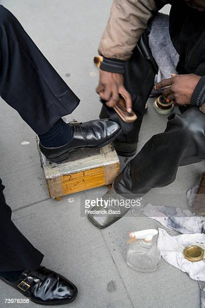 A shoe shiner in New York