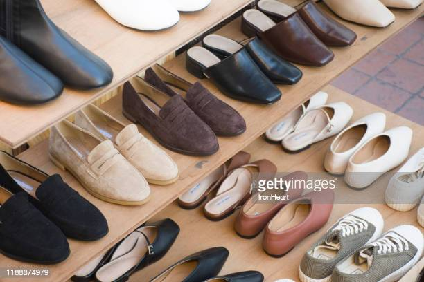 shoe shop - shoe store stock pictures, royalty-free photos & images