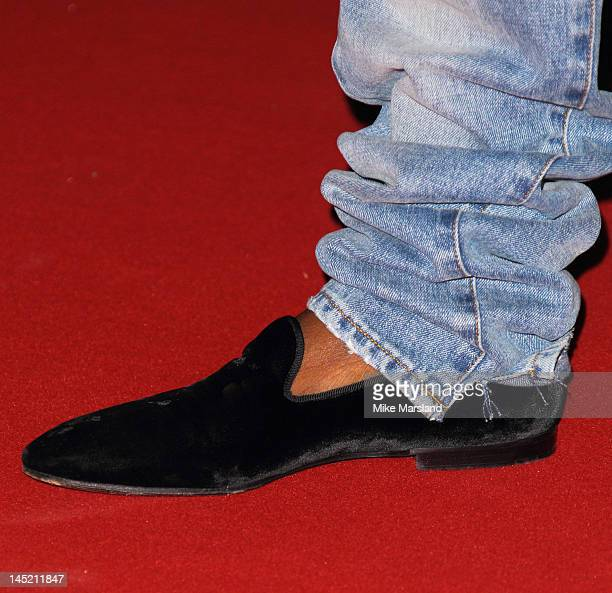 Shoe worn by Kanye West attending the 'Cruel Summer' presentation during the 65th Annual Cannes Film Festival on May 23 2012 in Cannes France