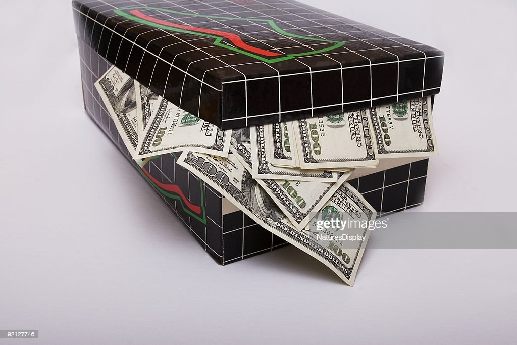 Shoebox Full Of Money.Shoebox Full Of Money High Res Stock Photo Getty Images
