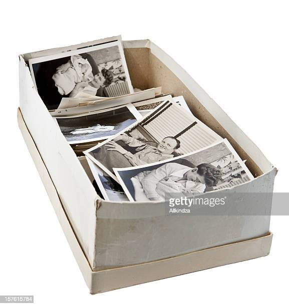 shoebox of old photos