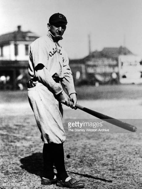 Shoeless Joe Jackson outfielder for the Cleveland Naps poses for a portrait circa 1910