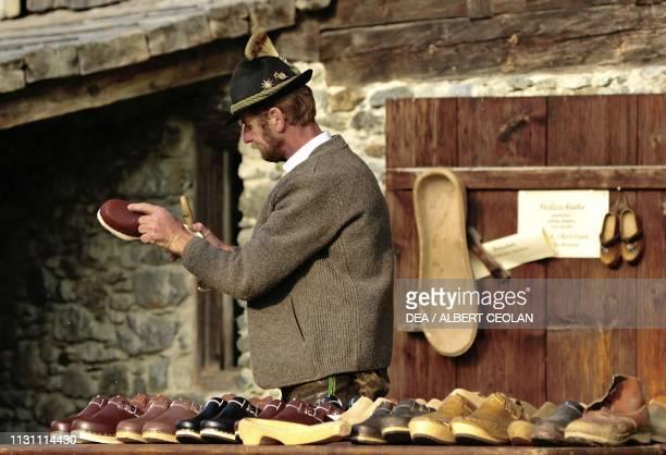 Shoemaker at work Kramsach Tyrol Austria