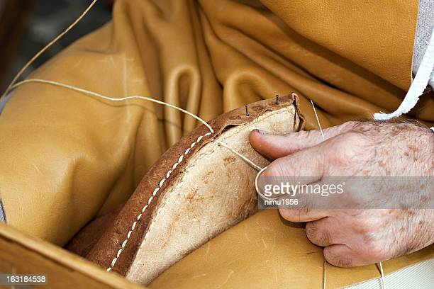 Shoemaker at work