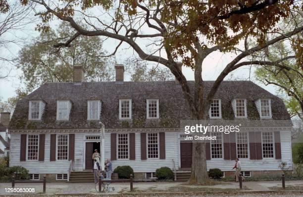 Shoemaker in Colonial Williamsburg in Williamsburg, Virginia on November 1, 1981.
