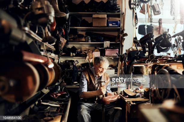 shoemaker - leather shoe stock pictures, royalty-free photos & images