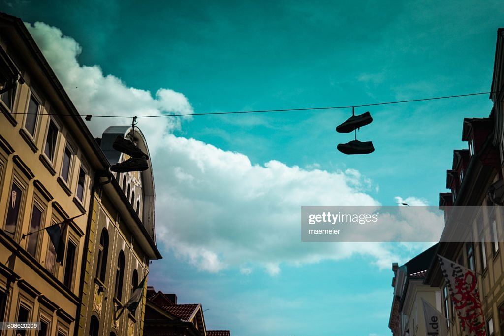 shoes and blue sky : Stock Photo