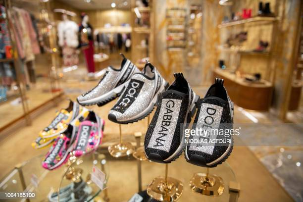 f24d27aceef0 Shoes are displayed at a Dolce Gabbana shop in Beijing on November 22 2018 Dolce  Gabbana