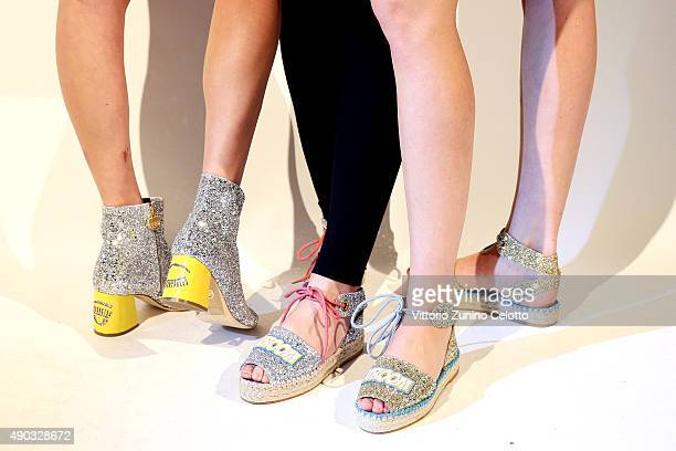 Shoes are presented at the Chiara Ferragni presentation as part of Milan Fashion Week Spring/Summer 2016 on September 27 2015 in Milan Italy