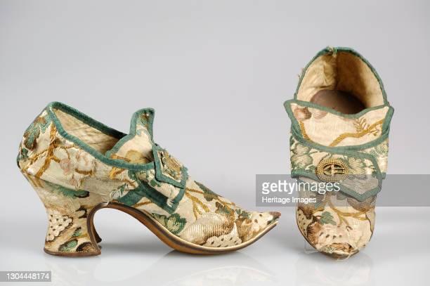 Shoes, British, 1710-29. Artist Unknown.
