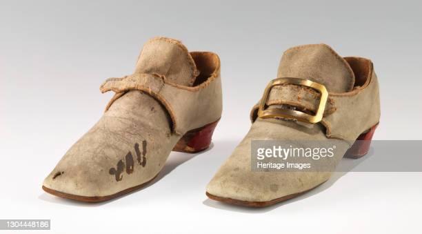 Shoes, British, 1740-79. Artist Unknown.