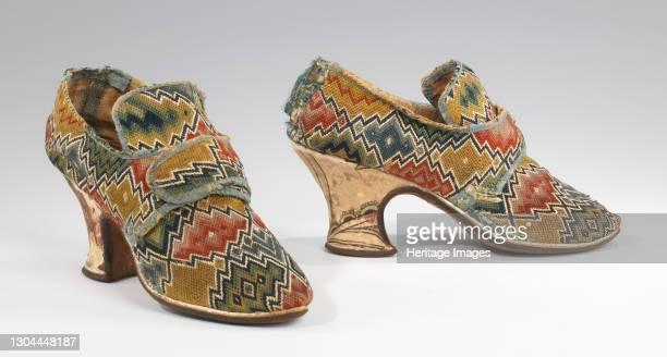 Shoes, British, 1750-69. Artist Unknown.