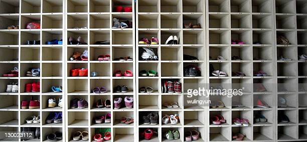 Shoes cabinet in garment factory