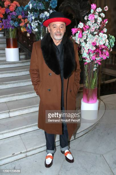 Shoes Designer Christian Louboutin attend the Berluti Menswear Fall/Winter 2020-2021 show as part of Paris Fashion Week at Opera Garnier on January...
