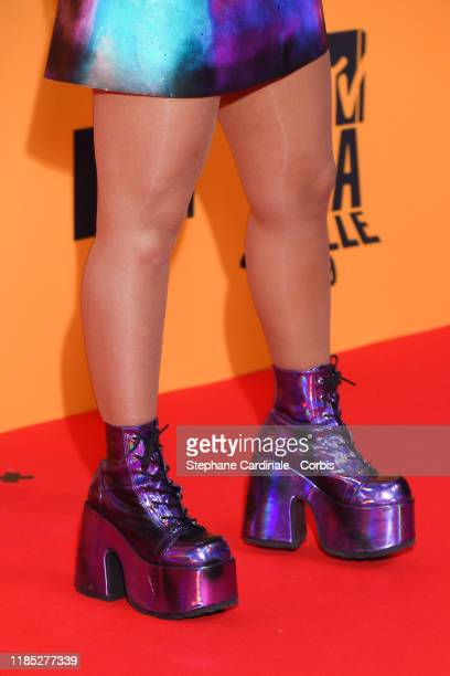 shoes details Noa Kirel attends the MTV EMAs 2019 at FIBES Conference and Exhibition Centre on November 03 2019 in Seville Spain