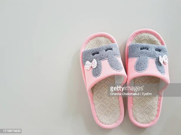 shoes for walking inside home - slipper stock pictures, royalty-free photos & images