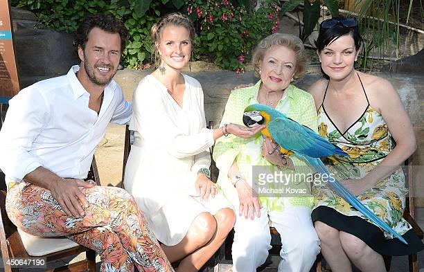 TOMS Shoes founder and Chief Shoe Giver Blake Mycoskie TOMS Shoes Chief Animal Lover Heather Mycoskie actresses Betty White and Pauley Perrette...
