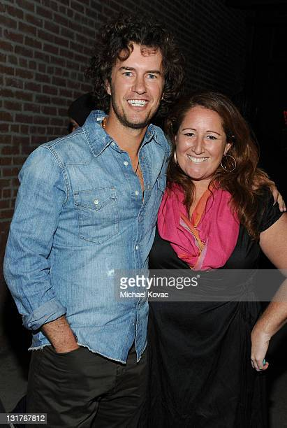 Shoes founder Blake Mycoskie and Julie Steinbeiss attend the launch of TOMS spring 2011 collection inspired by Dan Eldon at the TOMS Give Shop and...