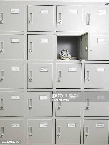 Shoes in locker