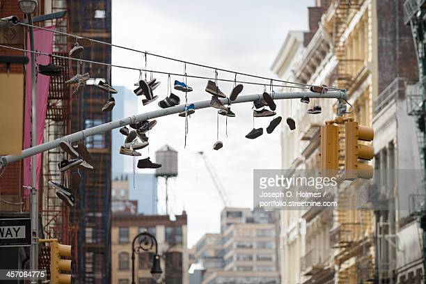 shoes in soho - joseph o. holmes stock pictures, royalty-free photos & images